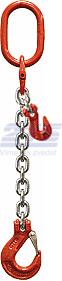 Oko-hák řetězový průměr 8 mm, délka 2 m, zkracovací háky, třída 8 GAPA