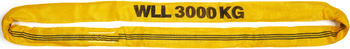 Jeřábová smyčka  RS 3t,2m, užitná délka - 1