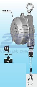 Balancér 9359 (Tecna), nosnost: 22-25 kg, 2000 mm - 1