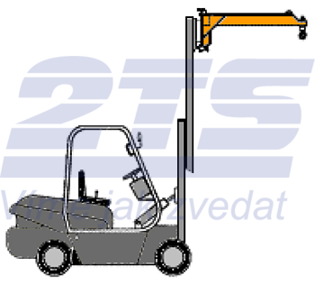 Závěsné rameno na desku VZV jednoduché ZR1D 2500kg - 1