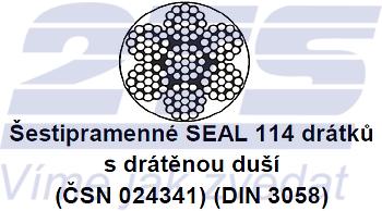 Ocelové lano průměr 20 mm, 6x19 S-IWRC U 1770 sZ