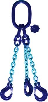 3-hák řetězový průměr 6 mm, délka 1,5 m, třída 10 GAPA