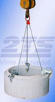 Nosič skruží NS s lanem 2t, 80-120 mm - 1