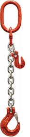Oko-hák řetězový průměr 8 mm, délka 1 m, zkracovací háky, třída 8 GAPA