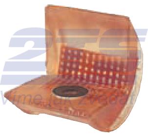 Rohová pevná ochrana SWH pro textilní úvazky 65mm standard, jednostranný magnet - 1