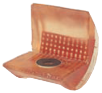 Rohová pevná ochrana SWH pro textilní úvazky 65mm standard, jednostranný magnet - 1/2