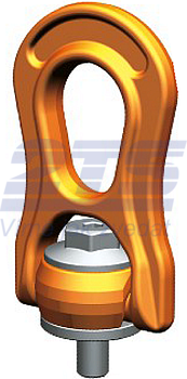 Šroubovací otočný a sklopný bod PLBW M36x58,7, nosnost 10 t, s čipem NFC - 1