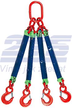4-hák textilní RS, nosnost RS 2t, délka 5m - 1