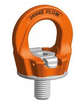 Šroubovací otočný  bod PLGW M36x55, nosnost 7 t, basic bez čipu- pro montážní klíč, tř.10 - 1