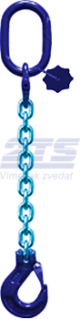Oko-hák řetězový průměr 6 mm, délka 3,5 m třída 10 GAPA