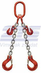 2-hák řetězový průměr 6 mm, délka 5,5 m, zkracovací háky, třída 8 GAPA