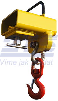 Závěs na vidlici VZV jednoduchý s otočným hákem ZV1 OH 1000kg - 1