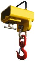 Závěs na vidlici VZV jednoduchý s otočným hákem ZV1 OH 1000kg - 1/2