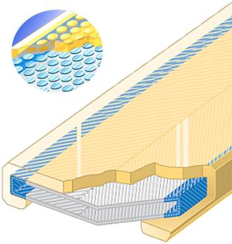 Polyuretanová ochrana jednostranná pro 4vrstvý pás s kovovou výztuhou SF1-PCS šíře 90mm - 1