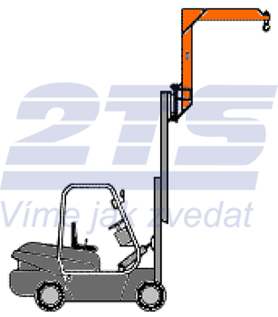Závěsné rameno na desku VZV zvýšené jednoduché ZR1HD 3000kg - 1