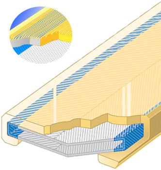 Polyuretanová ochrana jednostranná pro 4vrstvý pás s broušeným povrchem SF1-PCS šíře 150mm - 1