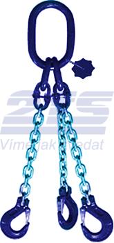 3-hák řetězový průměr 8 mm, délka 2,5 m, třída 10 GAPA