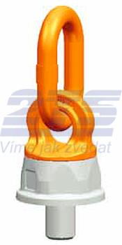 Šroubovací otočný a sklopný bod PLDW M24x40, nosnost 4 t - 1