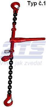 Stahovací řetězová sestava typ č.1 průměr 8 mm, délka 3 m, třída 8 GAPA - 1
