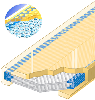 Polyuretanová ochrana jednostranná s kovovou výztuhou SF1 šíře 90mm - 1