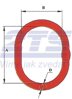Závěsné oko lanové M16, nosnost 2,1 t GAPA285