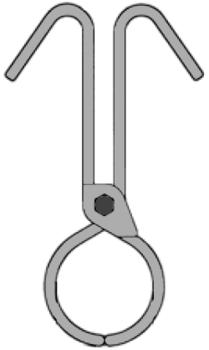 Svěrací kleště na kulatinu SKKR 50kg - 1