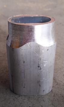 Objímka lisovací kónická TK, EN 13411-3, Al, průměr 24 mm - 1