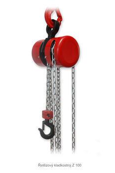 Řetězový kladkostroj Z100, nosnost 0,5 t, délka zdvihu 6 m - 1