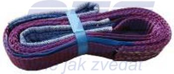 Plochý pás s oky dvouvrstvý HB2 1t,1,1m - 1