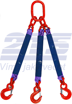 3-hák textilní RS, nosnost RS 1t, délka 4m