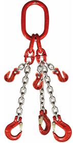 3-hák řetězový průměr 6 mm, délka 4,5 m, zkracovací háky, třída 8 GAPA
