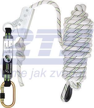 Zachycovač pádu s tlumičem, pr.12mm. délka 10m