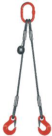 2-hák lanový průměr 8mm, délka 3,5m