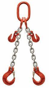 2-hák řetězový průměr 10 mm, délka 5,5 m, zkracovací háky, třída 8 GAPA
