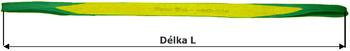 Čtyřvrstvý plochý pas s oky, ochrana proti ŘEZU/ODĚRU, 2t, 3m