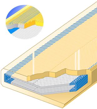 PU ochrana oboustranná s broušeným povrchem pro 4vrstvý pás SF2-PCS-S šíře 30mm - 1