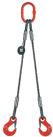 2-hák lanový průměr 12mm, délka 4,5m