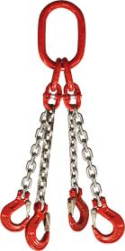 4-hák řetězový průměr 8 mm, délka 3,5 m, třída 8 GAPA