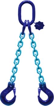2-hák řetězový průměr 8 mm, délka 6 m,  třída 10 GAPA