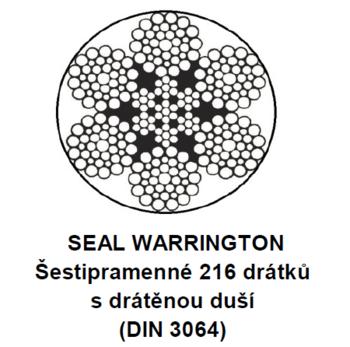 Ocelové lano průměr 16 mm, 6x36 WS-IWRC U 1770 sZ
