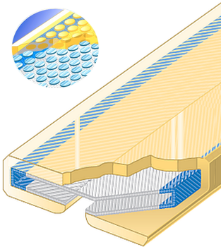 Polyuretanová ochrana jednostranná Clip-SC s kovovou výztuhou šíře 125mm - 1