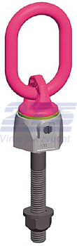 Šroubovací otočný a sklopný bod RUD VWBG-V M16 max.F=80 mm,matice+podložka - 1