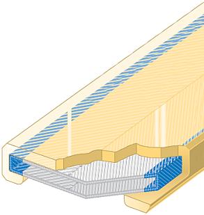 Polyuretanová ochrana jednostranná pro 4vrstvý pás SF1-PCS šíře 150mm