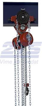 Řetězový kladkostroj pojízdný Z220-B, nosnost 1,6 t, délka zdvihu 3 m - 1