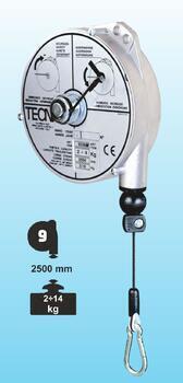 Balancér 9338 (Tecna), nosnost: 6-8 kg, 2500 mm - 1