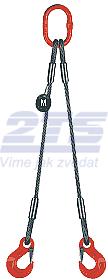 2-hák lanový průměr 8mm, délka 1m