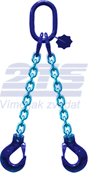 2-hák řetězový průměr 10 mm, délka 5,5 m, třída 10 GAPA