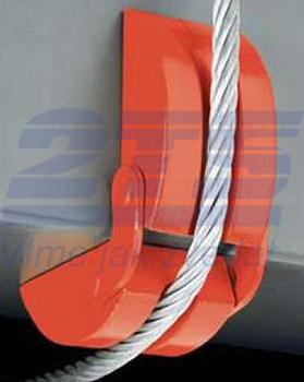 Hliníkový ochranný roh AL pro ocelová lana a řetězy 18/70mm