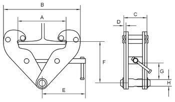 Šroubovací svěrka CTK 1 t, 75-220 mm - 2