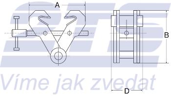 Šroubovací závěsná svěrka CSVW 3t, 75-190mm - 2